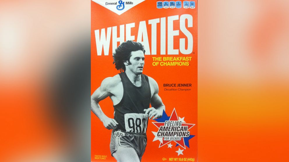 Bruce Jenner is seen on the  front cover of 'Wheaties' cereal box in this undated file photo. Jenner won Gold in the decathlon at the 1976 Olympic Games in Montreal.