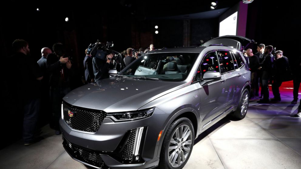 The Three Row Cadillac Xt6 Crossover Suv Is Unveiled During Media Previews For North