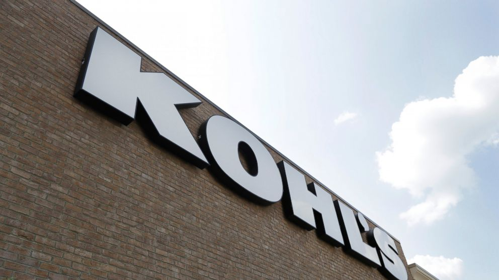 FILE - In this Aug. 28, 2018, fie photo, a Kohl's sign is shown in front of a Kohl's store in Concord, N.C. On Thursday, Jan. 10, 2019, Kohl's reported a small sales growth that showed a dramatic slowdown from a year ago. Comparable sales rose 1.2 percent, versus 6.9 percent in the previous year. (AP Photo/Chuck Burton, File)