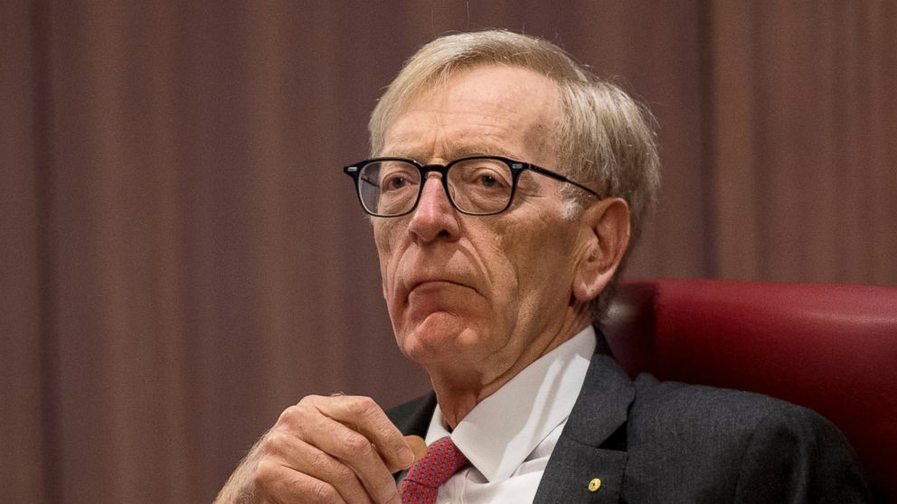 In this Feb. 12, 2018, photo, Commissioner Kenneth Hayne during The Royal Commission's initial public hearing into Misconduct in the Banking, Superannuation and Financial Services Industry in Melbourne. On Monday, Hayne recommended sweeping changes to Australia's banking industry following a scathing national report on misconduct in the financial sector. (Eddie Jim/AAP Images via AP)