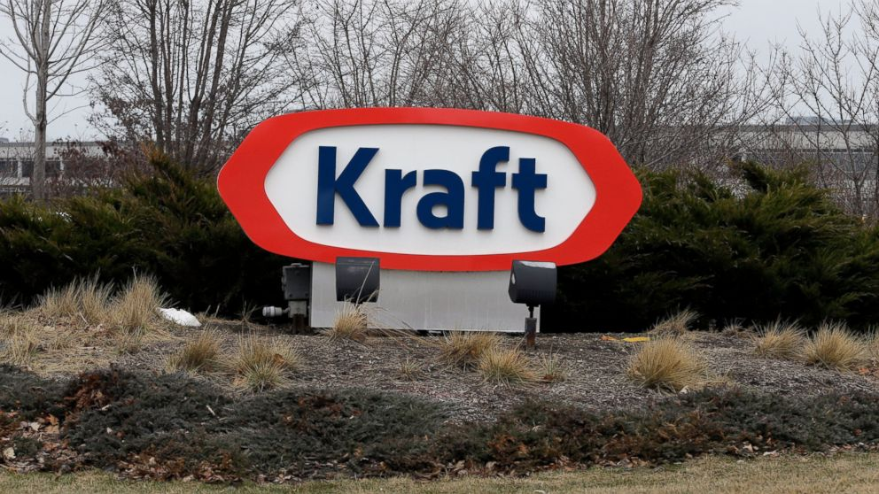 FILE - In this March 25, 2015 file photo, the Kraft logo appears outside of the headquarters in Northfield, Ill. Shares in Kraft Heinz are expected to plunge when markets open Friday, Feb. 22, 2019 after the consumer goods company said it was being investigated by U.S. regulators and it reported a massive loss. Kraft Heinz said it received a subpoena in October from the U.S. Securities and Exchange Commission related to an investigation of its procurement operations, which cover deals a company makes with outside suppliers. (AP Photo/Nam Y. Huh, File)