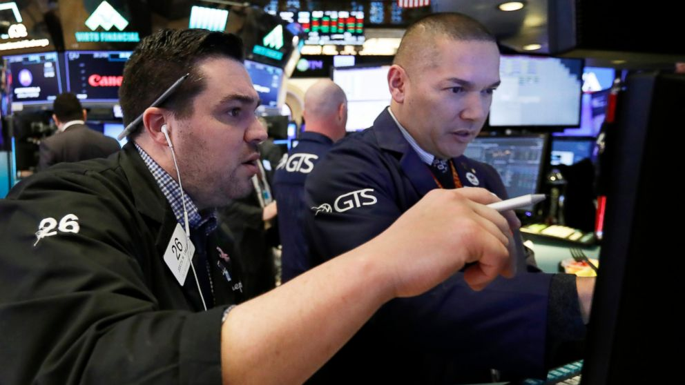 nullFILE- In this Jan. 11, 2019, file photo, trader Joseph Lawler, left, and specialist Mark Otto work on the floor of the New York Stock Exchange. The U.S. stock market opens at 9:30 a.m. EST on Thursday, Jan. 17. (AP Photo/Richard Drew, File)