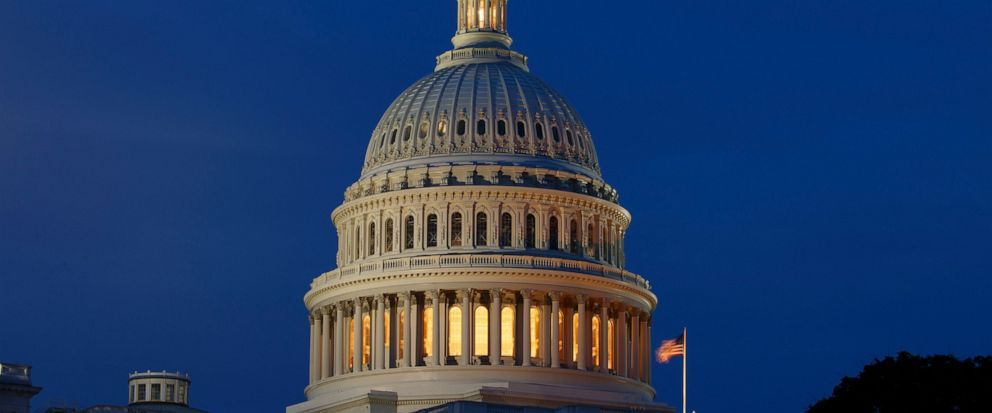FILE - This July 16, 2019, file photo shows the Capitol Dome in Washington. On Monday, Aug. 12, the Treasury Department releases federal budget data for July. (AP Photo/Carolyn Kaster, File)