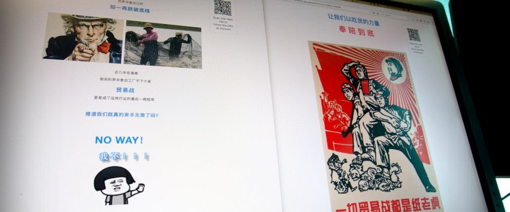 A social media post exhorting Chinese consumers to buy more tilapia to offset the effects of Chinas ongoing economic dispute with the United States is seen on a computer screen in Beijing, Wednesday, May 15, 2019. What do tilapia, Jane Austen and re