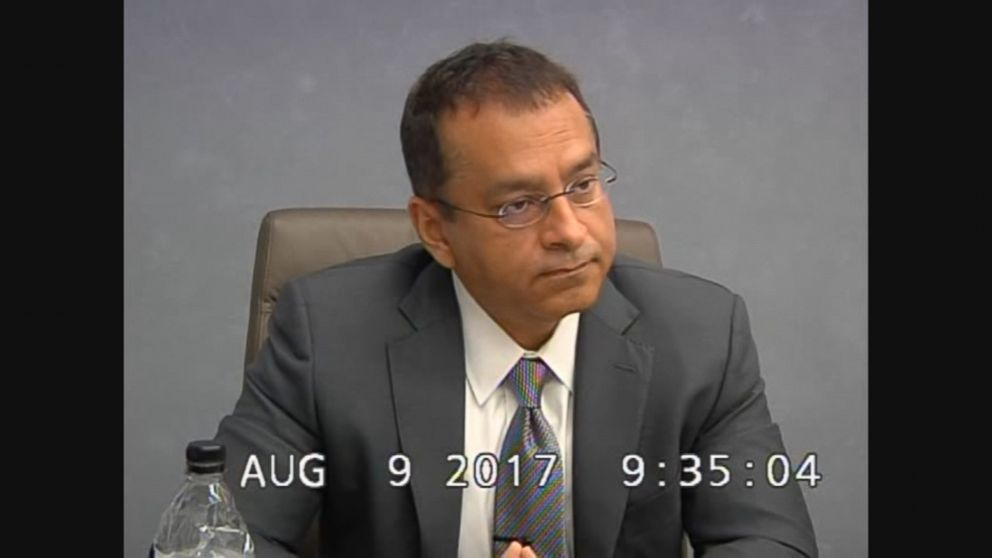Ramesh Sunny Balwani is seen here during an August 2017 deposition.
