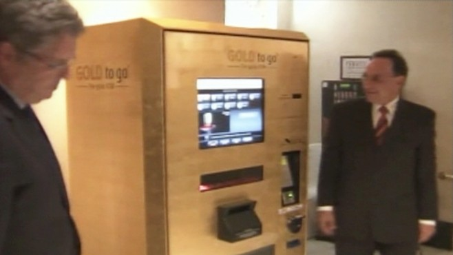 VIDEO: Madrids Westin hotel has a vending machine that dispenses gold bars and coins.