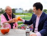 PHOTO: Legendary golfer Arnold Palmer popularized the beverage of iced tea combined with lemonade.