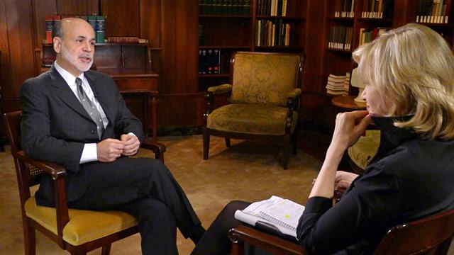 PHOTO: Ben Bernanke and Diane Sawyer