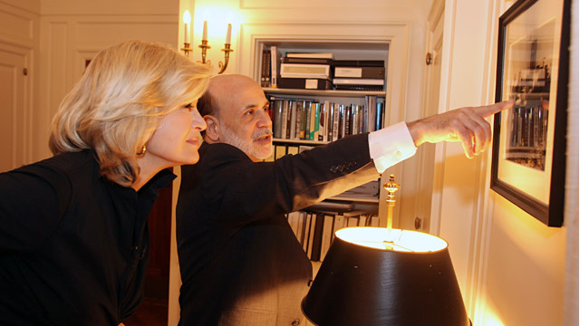 PHOTO: Ben Bernanke and Diane Sawyer