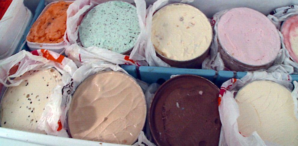 PHOTO: Ice cream tubs