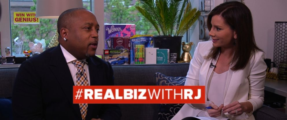 PHOTO: Shark Tank Investor Daymond John on Real Biz with Rebecca Jarvis.