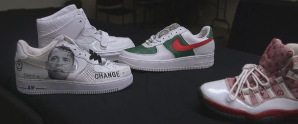 Authorities say sale of counterfeit sneakers can lead to