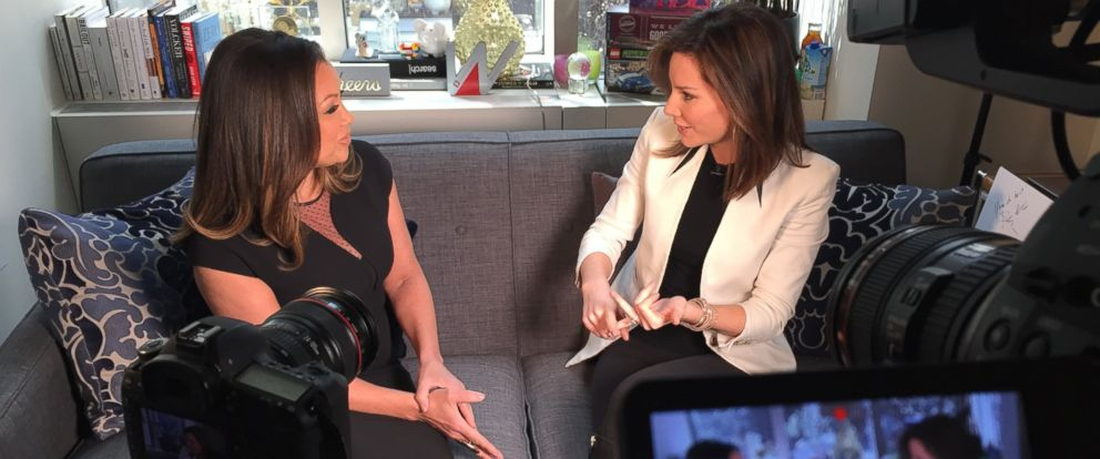 "PHOTO: Behind the scenes with Vanessa Williams and Rebecca Jarvis on ""Real Biz with Rebecca Jarvis."""