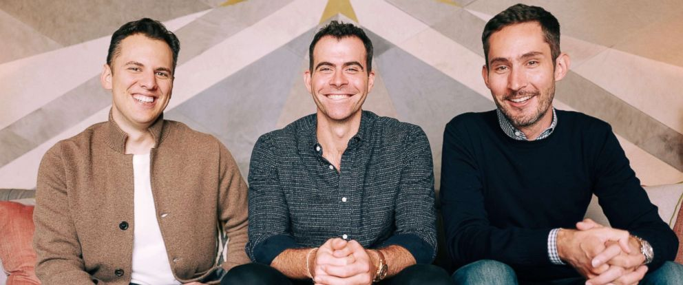 PHOTO: Instagram co-founder Mike Krieger, new Head of Instagram Adam Mosseri, and Instagram co-founder Kevin Systrom appear in this undated photo. Mosseri was just announced as the new Head of Instagram on Monday, Oct. 1, 2018.