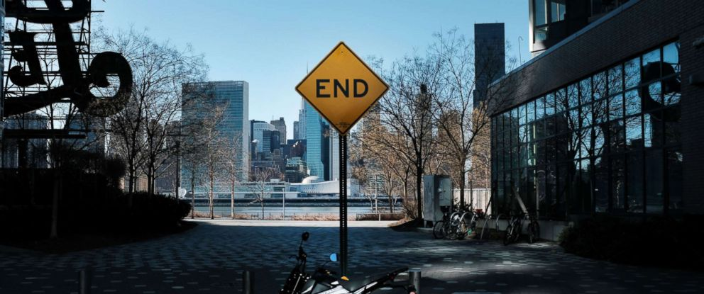 PHOTO: A sign stands at the end of a street in the Long Island City neighborhood on Feb. 09, 2019, in New York.