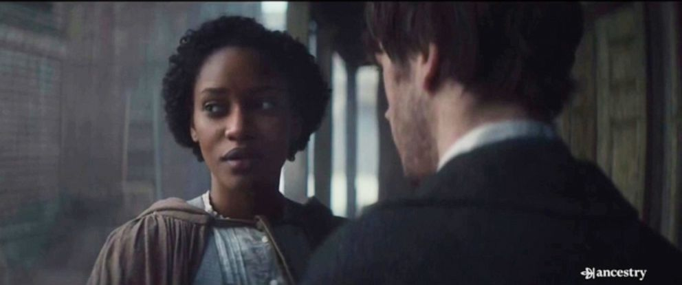 "PHOTO: A mixed-race couple from the slavery era is depicted in an Ancestry DNA testing commercial titled, ""Inseparable."""