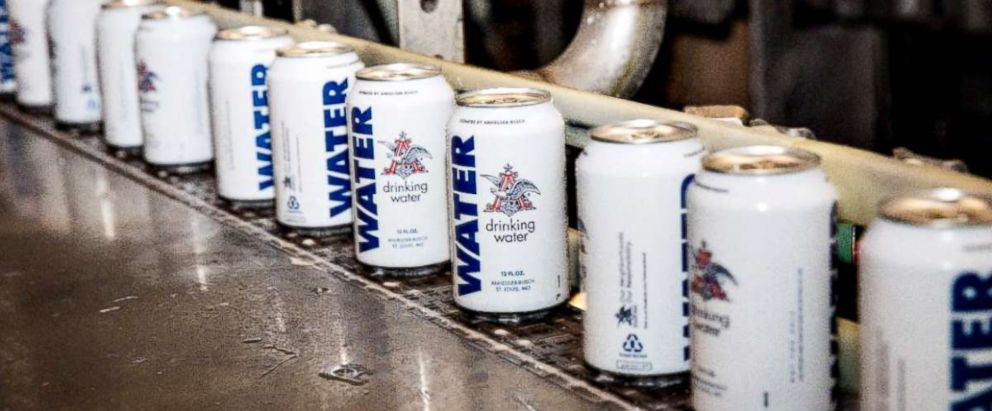 PHOTO: Anheuser-Busch is sending six truckloads (more than 300,000 cans) of emergency canned drinking water to local communities in North Carolina, South Carolina, and Virginia in preparation for the expected impact of Hurricane Florence.