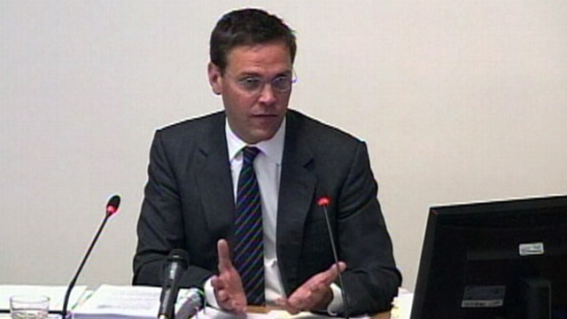 VIDEO: James Murdoch insists he didn't know extent of phone hacking at News of the World.