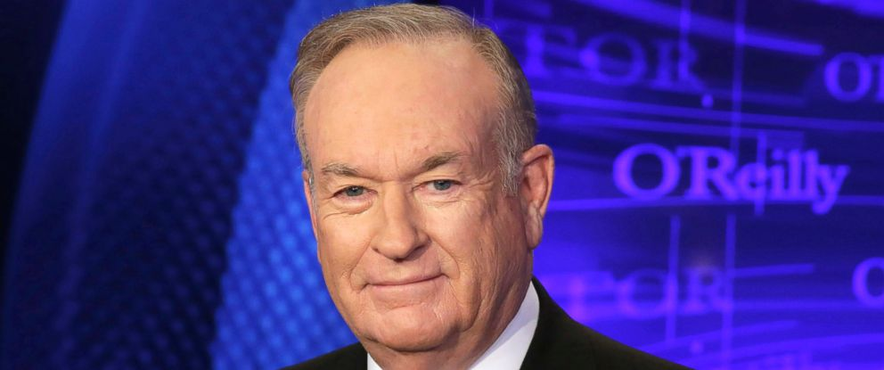 "PHOTO: Bill OReilly of the Fox News Channel program ""The OReilly Factor,"" poses for photos in New York, Oct. 1, 2015. OReilly did not discuss harassment allegations detailed against over the weekend in his first show back at work, April 3, 2017."
