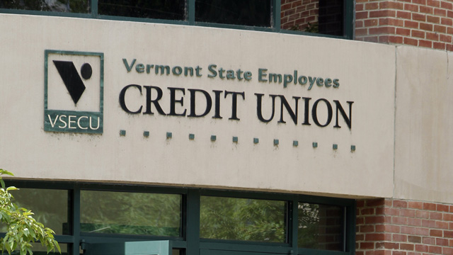 PHOTO: In this July 27, 2012 photo, customers enter the Vermont State Employees Credit Union in Montpelier, Vt.