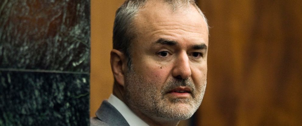 PHOTO: Gawker Media founder Nick Denton arrives in a courtroom in St. Petersburg, Florida, March 16, 2016. Spanish-language broadcaster Univision has bought Gawker Media in an auction for $135 million.