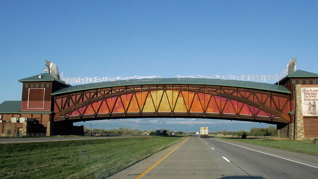 PHOTO:The Great Platte River Road Archway, which spans Interstate 80 just east of Kearney, Neb. The operators of the Archway have filed for Chapter 11 bankruptcy protection in order to reorganize its finances.