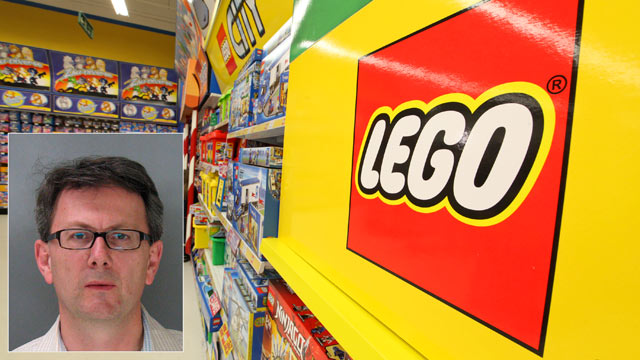 PHOTO: Silicon Valley executive Thomas Lagenbach, inset, has been accused of changing the barcodes on Legos to avoid paying full price.