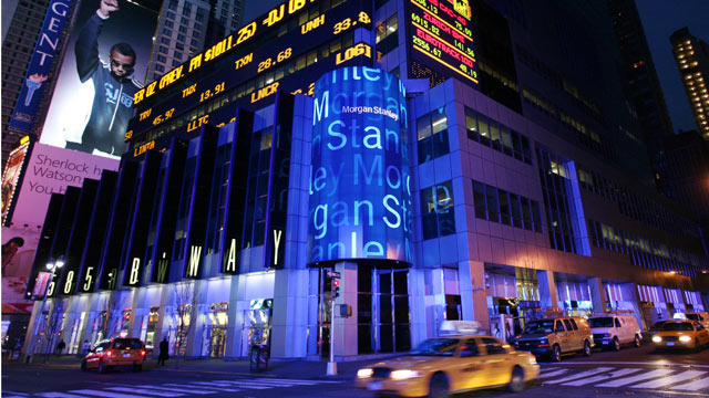 PHOTO: Morgan Stanley headquarters is shown in New Yorks Times Square.