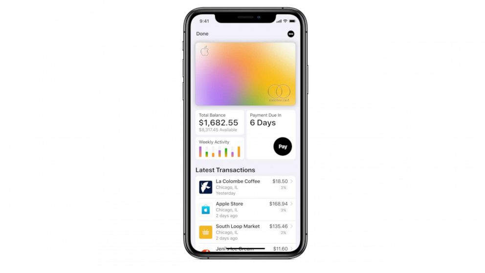 PHOTO: The new Apple Card was released to some customers, Aug. 6, 2019.