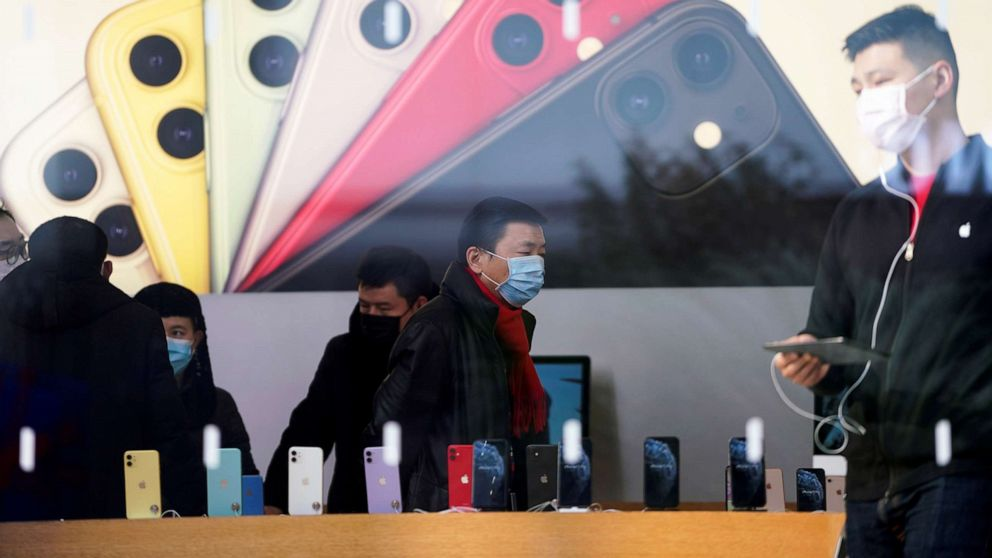 Apple says worldwide iPhone supply will be `temporarily...