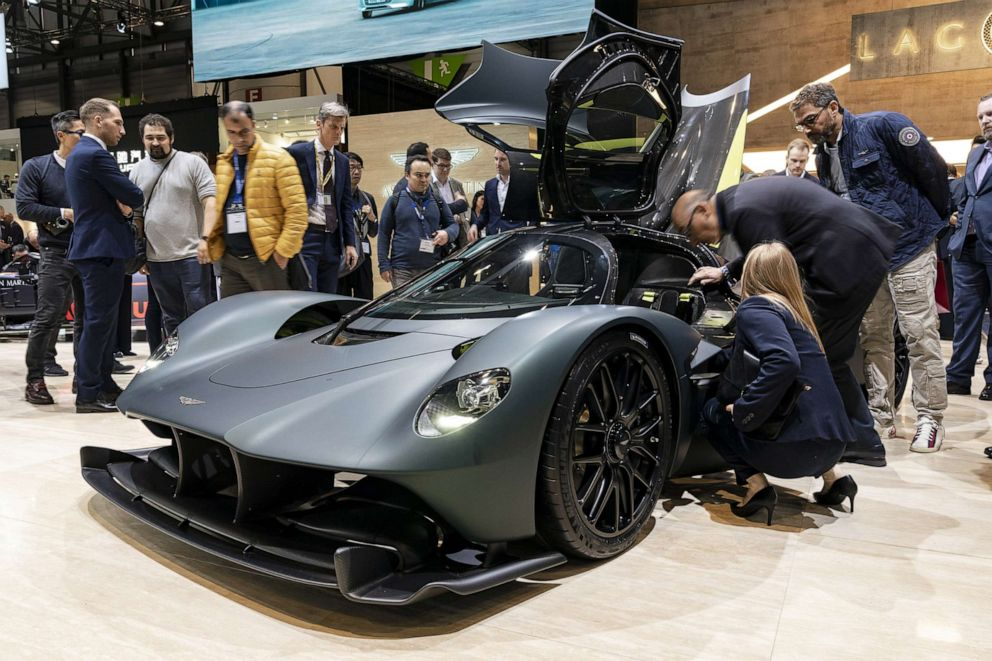 PHOTO: Aston Martins mid-engine supercar, the Valkyrie, got a lot of attention at the Geneva Motor Show.