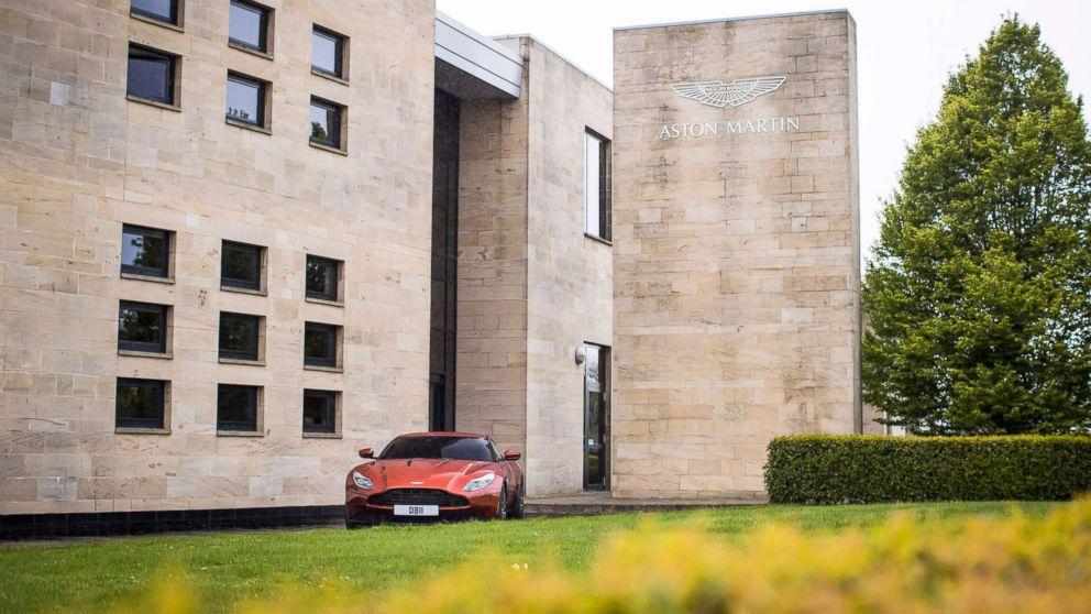 The entrance to Aston Martin Lagonda's global headquarters in Gaydon, England.