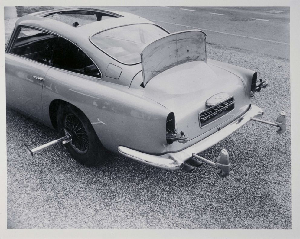 PHOTO: Spy gadgets on a DB5 used in the movie Goldfinger.