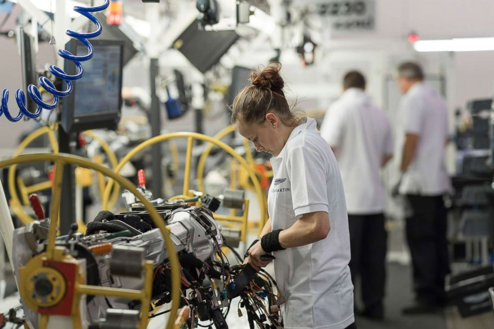 PHOTO: Inside Aston Martins factory in Gaydon, England.
