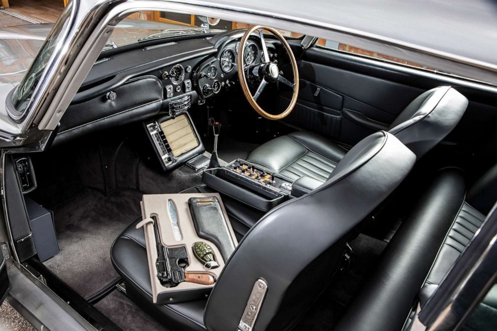 PHOTO: The DB5 was fitted with legendary Bond gadgets and used on a promotional tour for Thunderball.