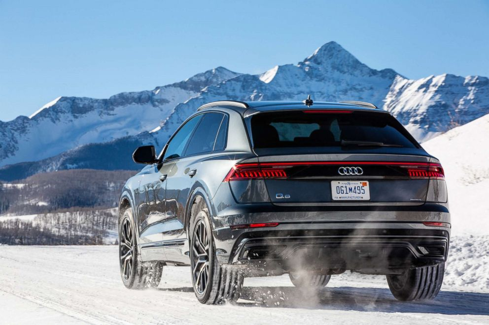 PHOTO: Snow tires helped the all-wheel drive Q8 get better grip on the slippery Colorado streets.
