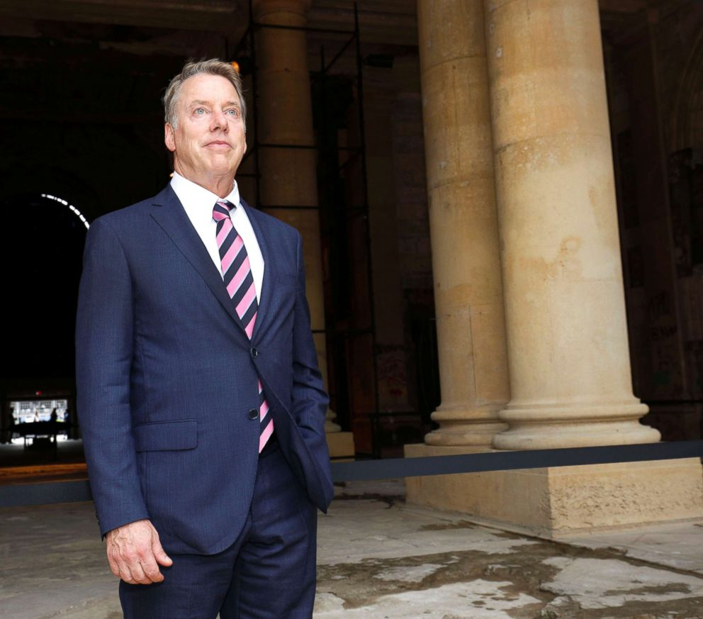 PHOTO: Bill Ford, Ford Motor Company Executive Chairman, stands inside the historic, 105-year old Michigan Central train station after announcing at a press conference Fords plans to renovate the station, June 19, 2018, in Detroit.