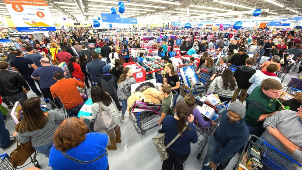 Holiday shoppers score great deals at Walmart on Nov. 23, 2017, in Bentonville, Ark.