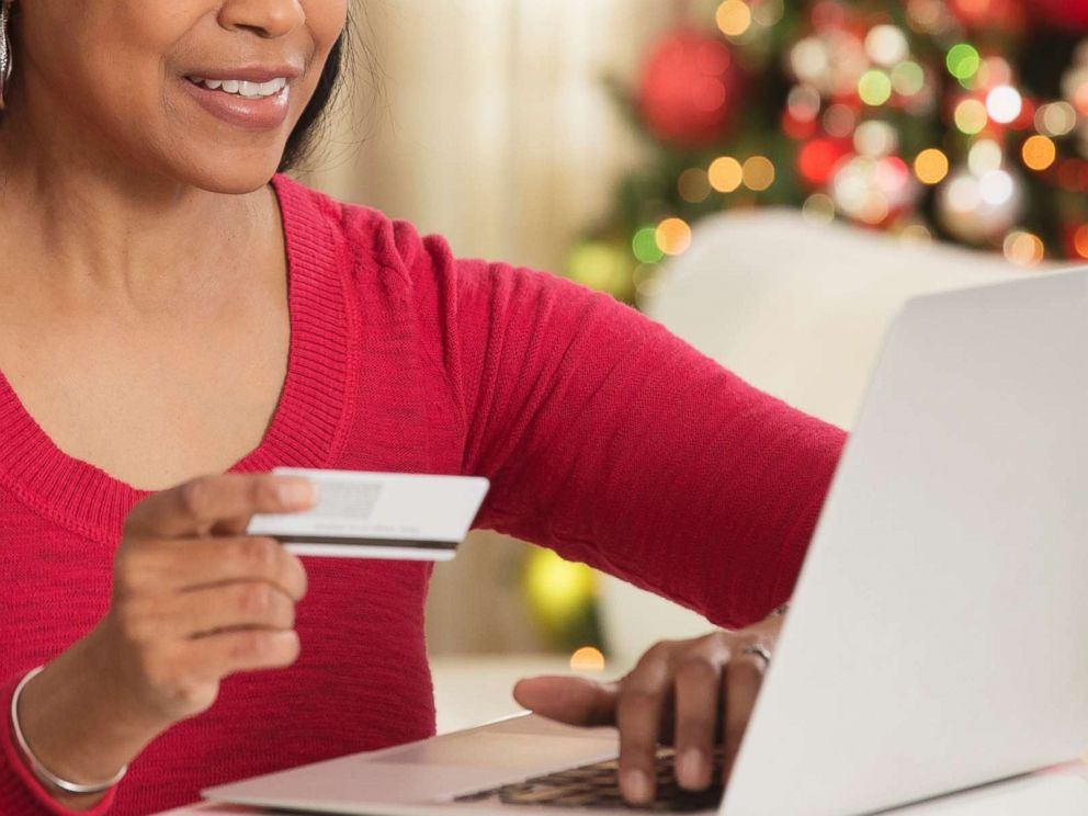 PHOTO: An undated stock photo of a woman online shopping.