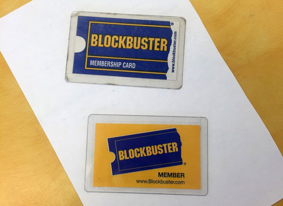 PHOTO: Membership cards at the last Blockbuster store in the world, in Bend, Oregon.