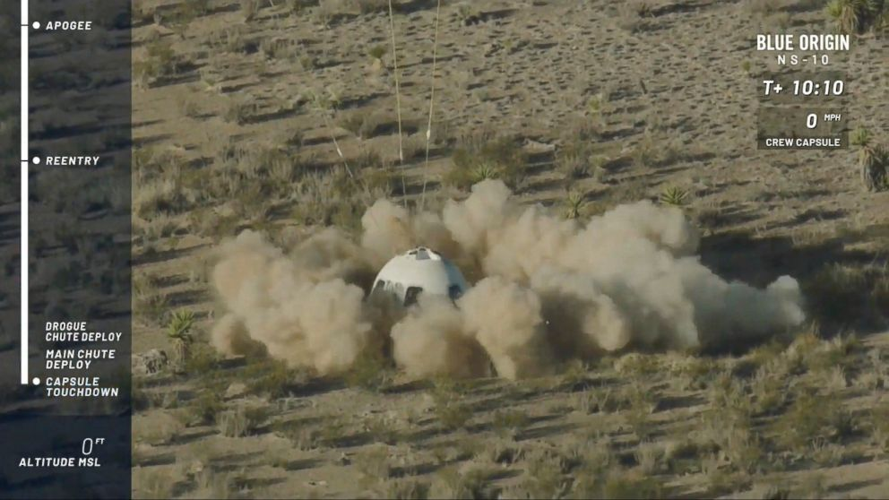 Jeff Bezos' Blue Origin successfully launches rocket into space, again -  ABC News