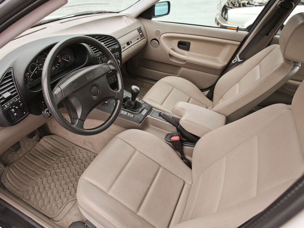 PHOTO: The interior of a 1995 BMW 3 series. The company previously called its non-animal leather leatherette.