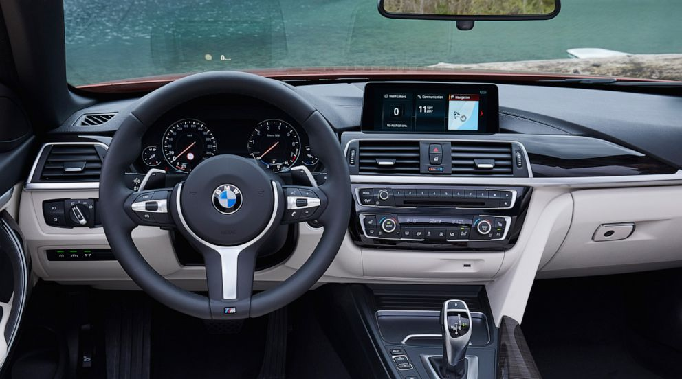 PHOTO: The dashboard of BMWs 4 Series is made from SensaTec, an upholstery manufactured from recycled materials and wool and dyed with plant-based coloring.