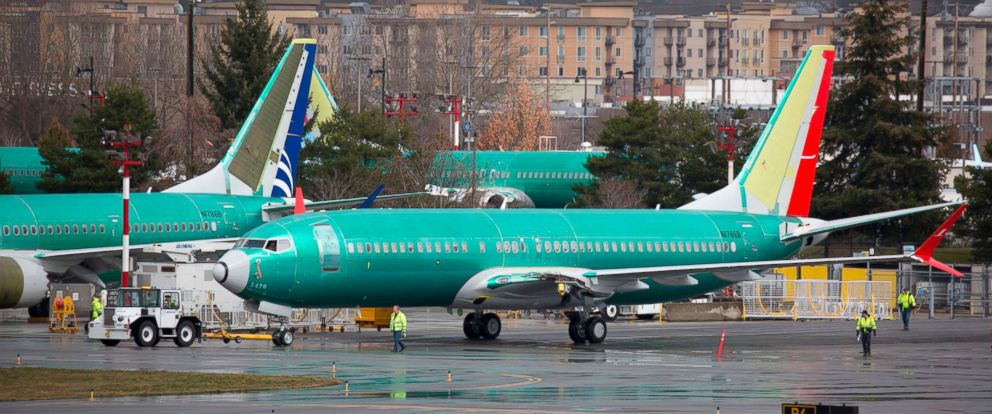 PHOTO: Boeing 737 airplanes are pictured on the tarmac at the Boeing Renton Factory in Renton, Washington, March 12, 2019.