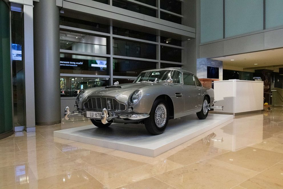 PHOTO: The DB5 on display at RM Sothebys global headquarters in New York.