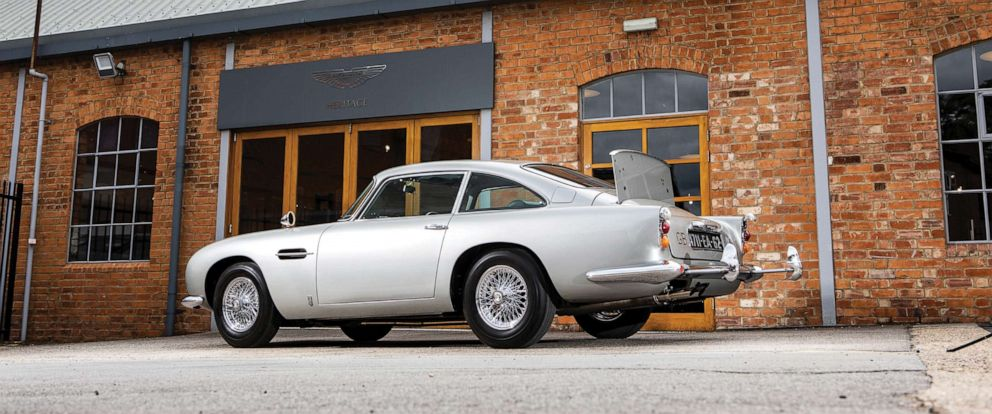 PHOTO: The James Bond Aston Martin DB5, chassis No. 2008/R, will be auctioned in Monterey, California, on Aug. 15. The car is expected to fetch between $4 million to $6 million.