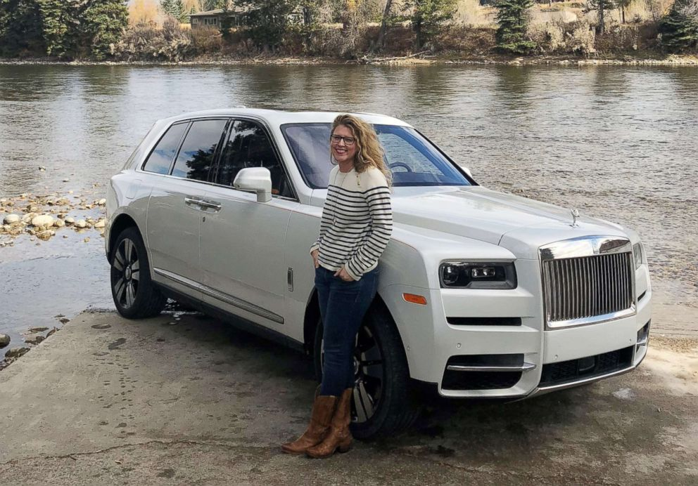 PHOTO: ABC News Morgan Korn is pictured with a Rolls-Royce Cullinan SUV.