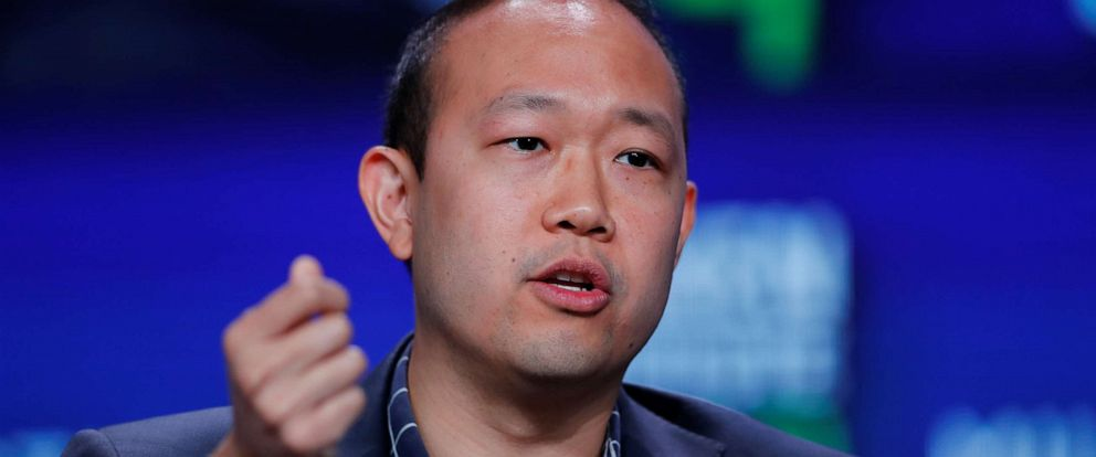 PHOTO: Chieh Huang, Co-Founder and CEO, Boxed speaks during the Milken Institutes 22nd annual Global Conference in Beverly Hills, Calif., April 29, 2019.