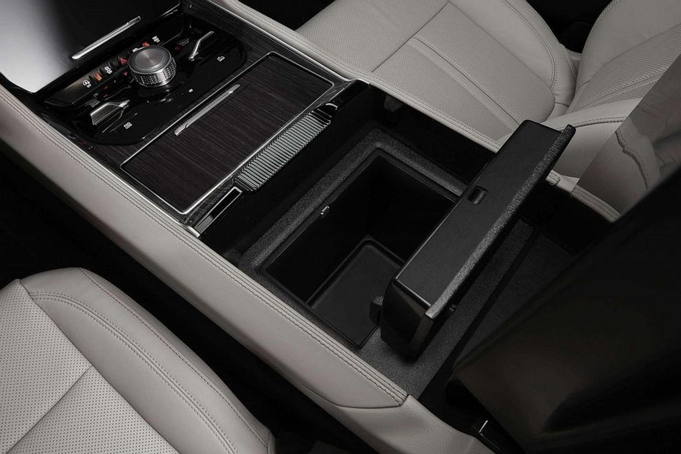 PHOTO: A cooled storage bin is available in the 2022 Wagoneer.