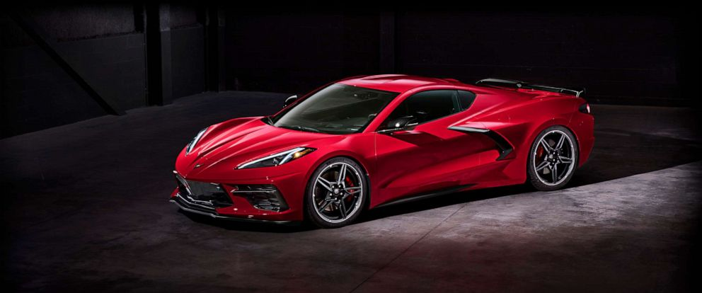PHOTO: The new 2020 Stingray mid-engine Corvette was officially unveiled in Tustin, California, on July 18, 2019.